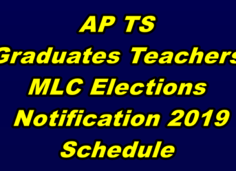 TS AP MLC Election Notification 2019 Schedule code of conduct
